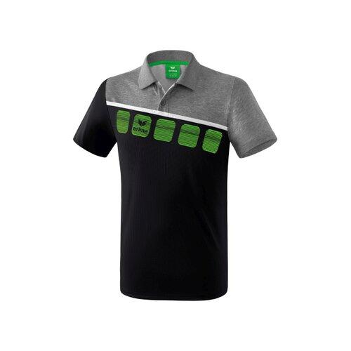 size 40 e6236 ef8fe 5-C Poloshirt schwarz/grau melange/weiß
